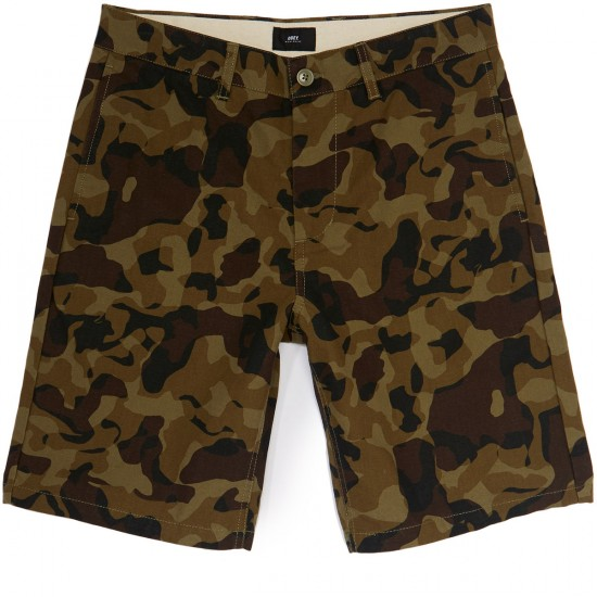 Obey Lagger Patch Pocket Shorts - Camo
