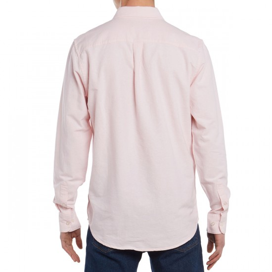 Obey Dissent II Woven Long Sleeve Shirt - Pink