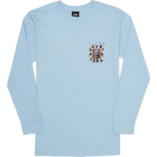 Obey Artifacts Long Sleeve T-Shirt - Powder Blue