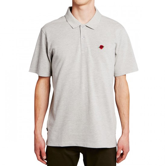 Obey Roses Polo Shirt - Athletic Heather Grey