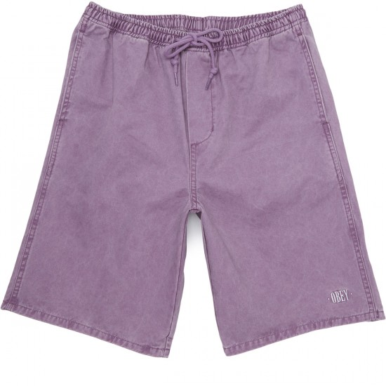 Obey Heritage Shorts - Purple