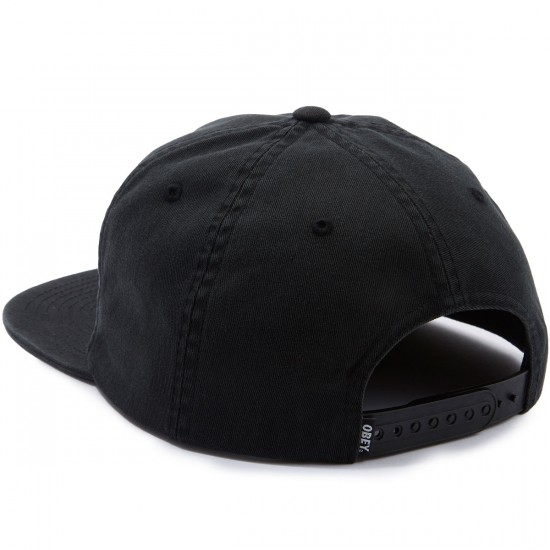 Obey Polly Snapback Hat - Black