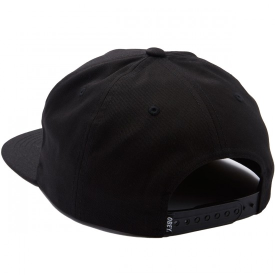 Obey Psychic Industries Snapback Hat - Black