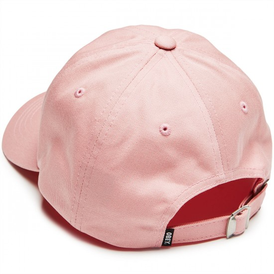 Obey Illusion 6 Panel Hat - Pink