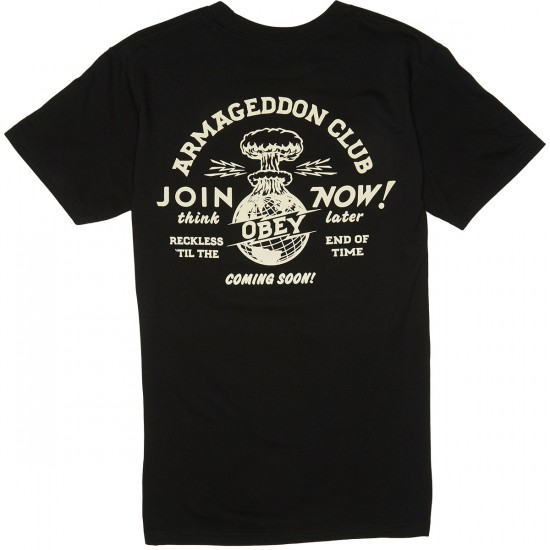 Obey Armageddon Club T-Shirt - Black