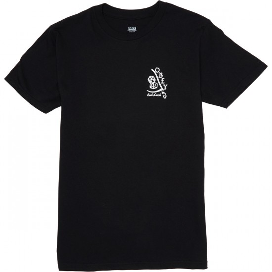 Obey Bad Luck T-Shirt - Black