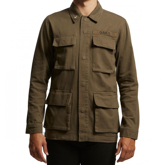 Obey Faded Jacket - Army
