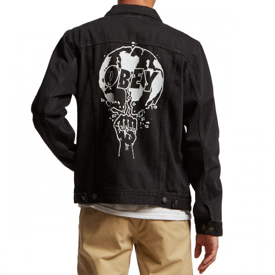 Obey Vicious Denim Jacket - Dusty Black
