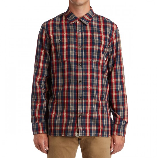 Vans Canehill Shirt - Red Dahlia/Dress Blues