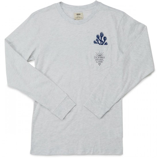 Vans Joshua Tree Long Sleeve T-Shirt - Oatmeal Heather
