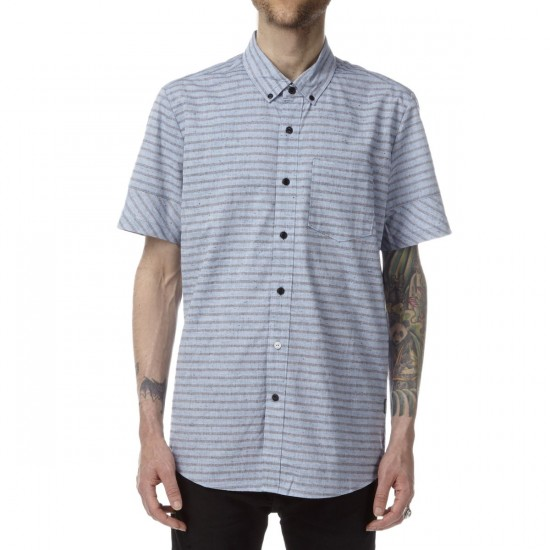 Volcom Melvin Stripe Short Sleeve Shirt - Sun Faded Indigo