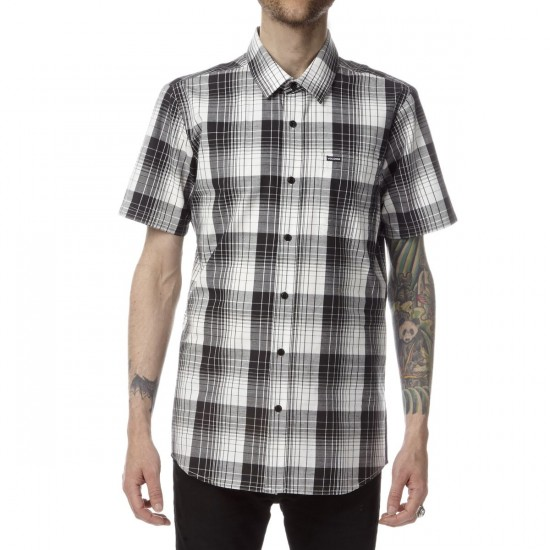 Volcom Incarus Plaid Short Sleeve Shirt - Paint White