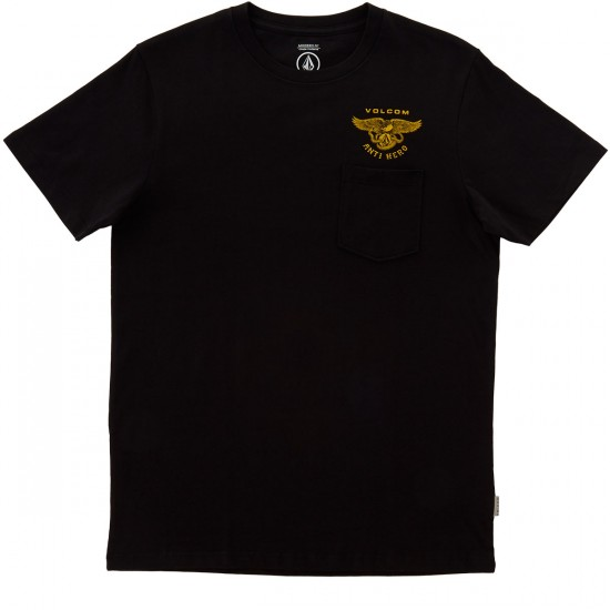 Volcom X Anti Hero Pocket T-Shirt - Black