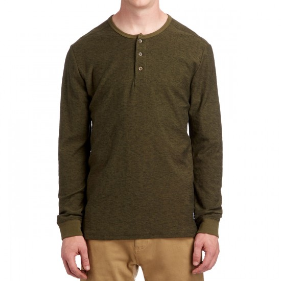 Volcom Moxee Henley Long Sleeve Shirt - Military