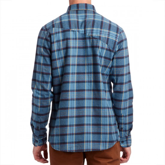Volcom Gaines Long Sleeve Shirt - Blue Fog