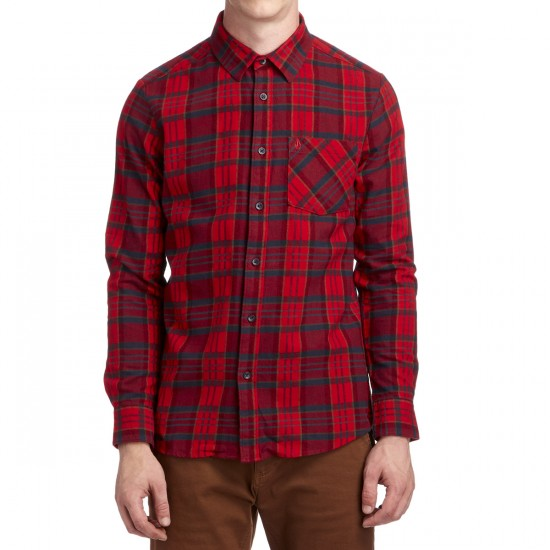 Volcom Gaines Long Sleeve Shirt - Candy Apple