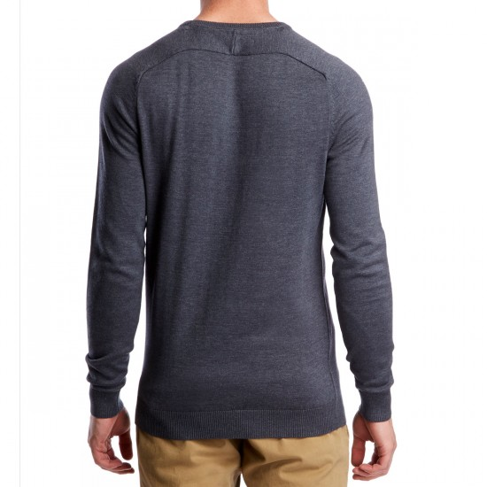 Volcom Uperstand Long Sleeve Crew T-Shirt - Navy