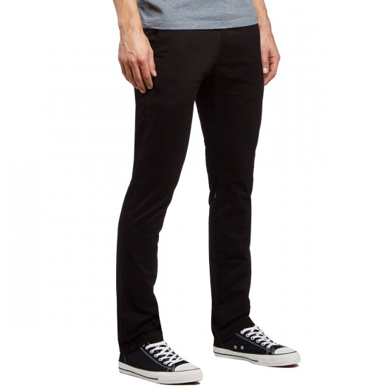 Volcom Frickin Slim Chino Pants - Black - 30 - 32