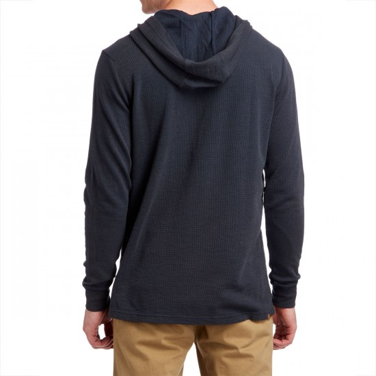 Volcom Waiters Thermal Hooded Shirt - Navy