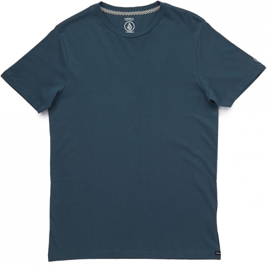 Volcom Solid Short Sleeve T-Shirt - Airforce Blue