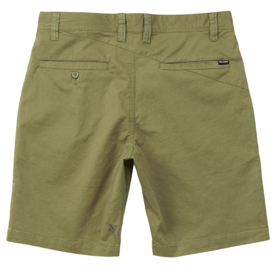 Volcom Frickin Lightweight Shorts - Army Green Combo