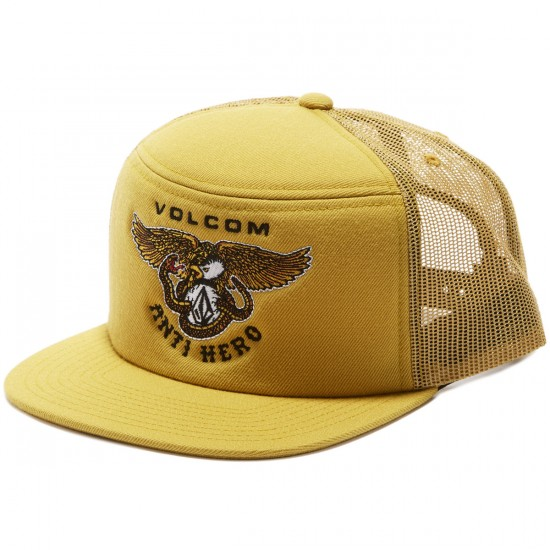 Volcom X Anti Hero Stach Trucker Hat - Dull Gold