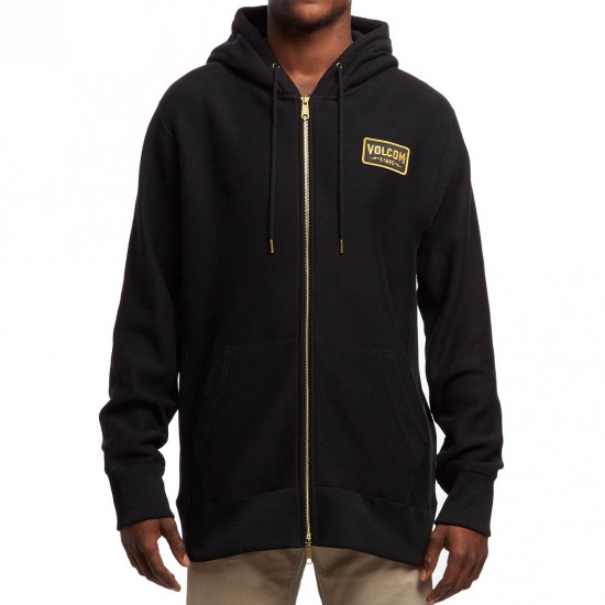 Volcom Shop Fleece Zip Hoodie - Black