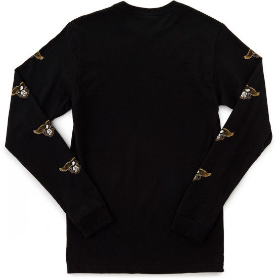 Volcom X Anti Hero Long Sleeve T-Shirt - Black