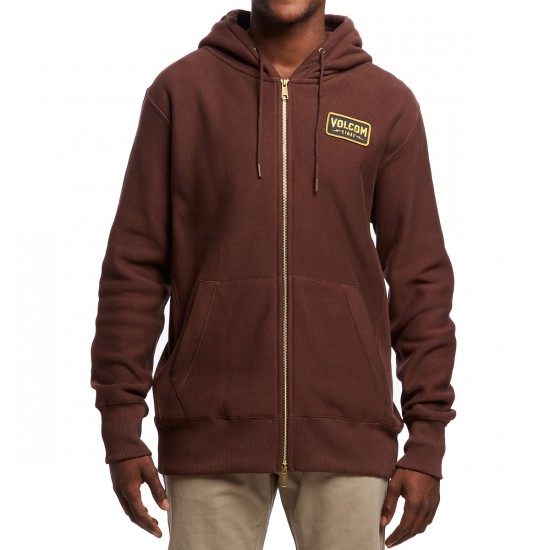 Volcom Shop Fleece Zip Hoodie - Plum