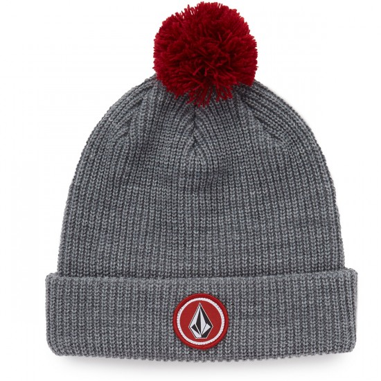 Volcom Quarter Pom Beanie - Heather Grey