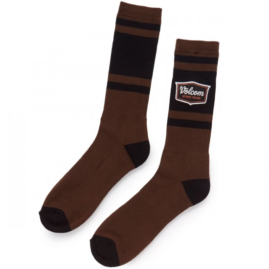 Volcom Cresticle Socks - Dark Chocolate