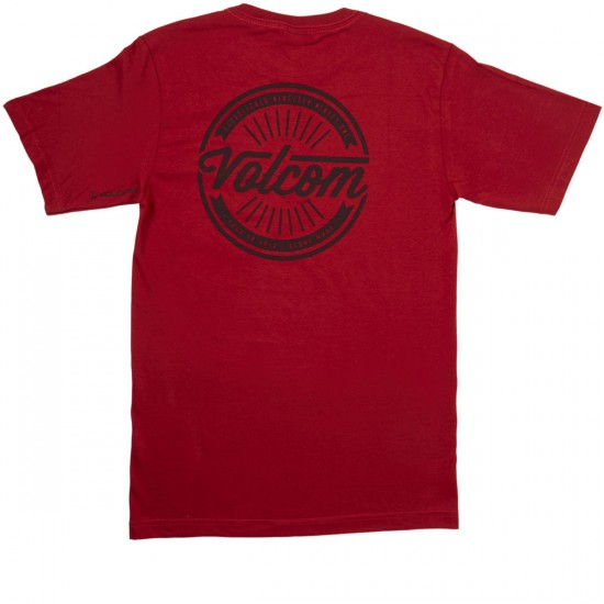 Volcom Message Short Sleeve Pocket T-Shirt - Deep Red