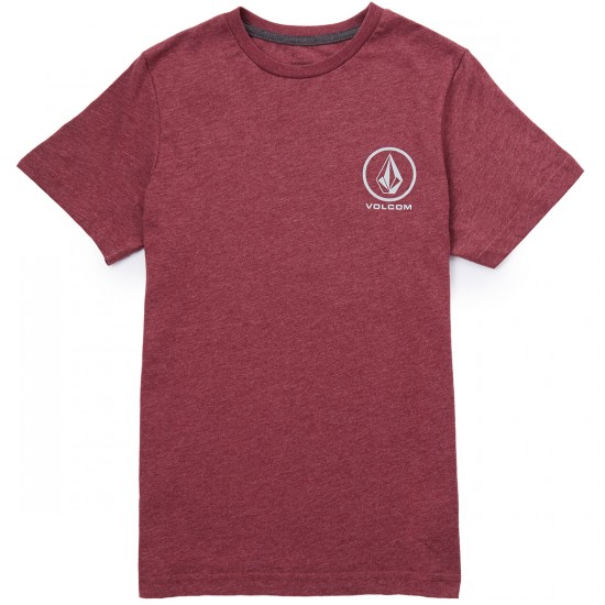 Volcom Forever Stone T-Shirt - Merlot Heather