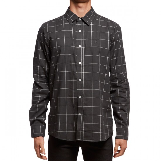 Volcom Aker Long Sleeve Shirt - Stealth