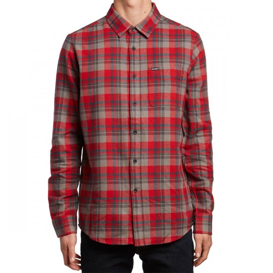 Volcom Hewitt Flannel Shirt - Blood Red