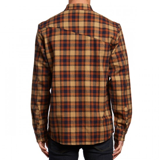 Volcom Martens Flannel Long Sleeve Shirt - Gravel