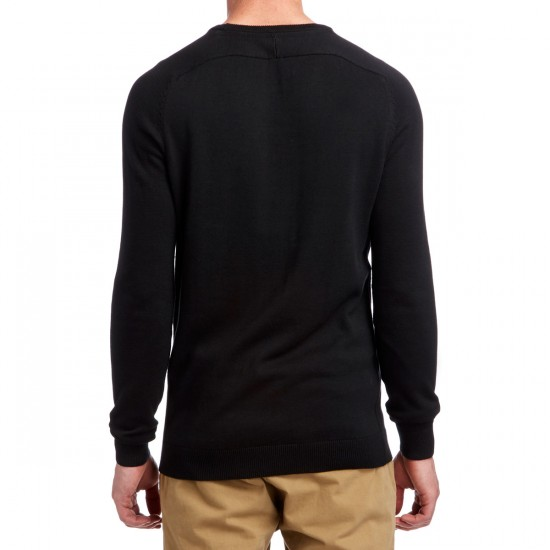 Volcom Uperstand Long Sleeve Crew T-Shirt - Black Out