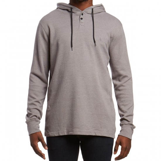 Volcom Murphy Hooded Thermal Shirt - Pewter