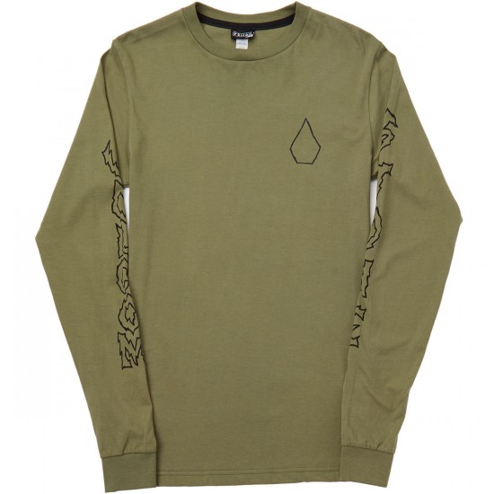 Volcom Borderline Long Sleeve T-Shirt - Vineyard Green Heather