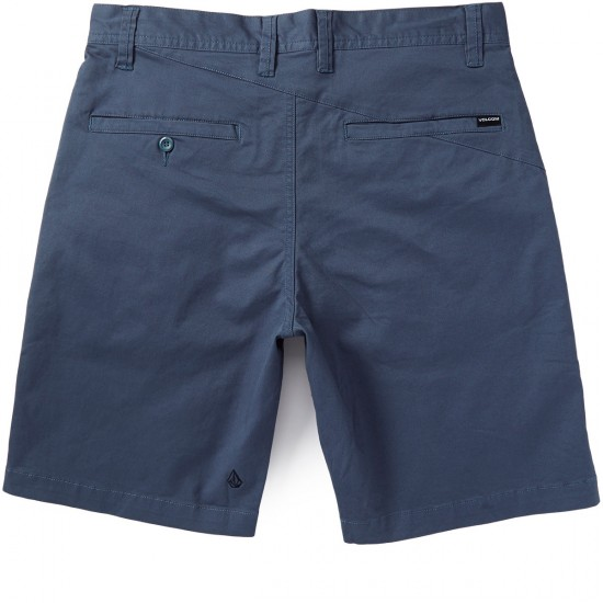 Volcom Frickin Lightweight Twill Shorts - Airforce Blue