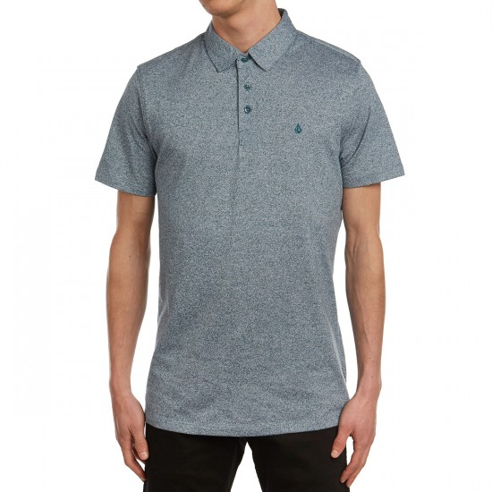 Volcom Wowzer Polo Shirt - Flight Blue