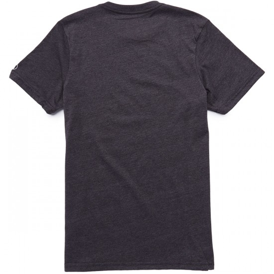 Volcom Heather Solid T-Shirt - Heather Black