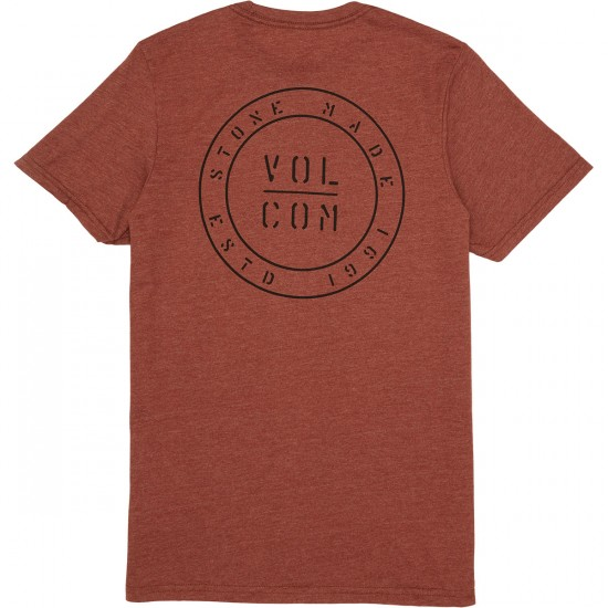 Volcom Power and Light T-Shirt - Dark Clay