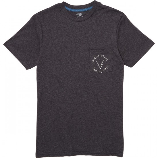 Volcom Volter Pocket T-Shirt - Heather Black