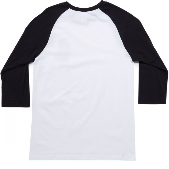 Volcom Hello Ha 3/4 Raglan Shirt - White