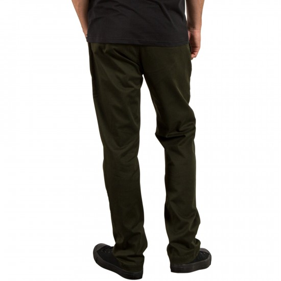 Volcom Frickin Modern Stretch Pants - Dark Green - 28 - 32