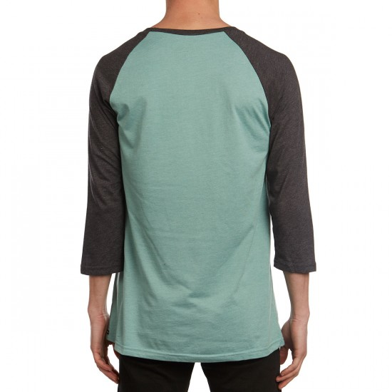 Volcom Solid Heather Raglan T-Shirt - Sea Blue