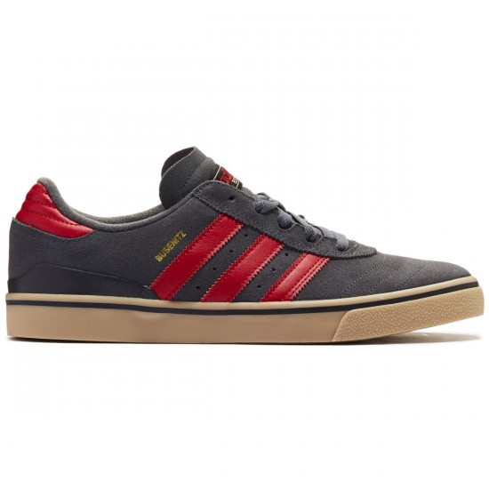 Adidas Busenitz Vulc Adv Shoes - Grey/Scarlet/Gold Metallic - 8.0