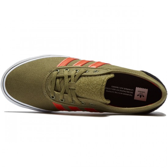 Adidas adi Ease Shoes - Olive Cargo/Craft Chili/White - 8.0