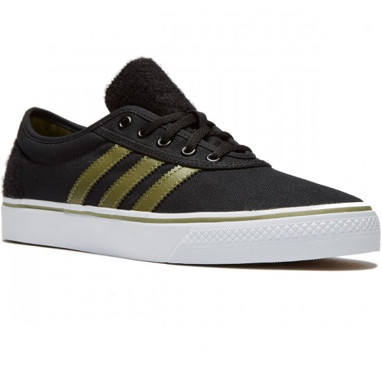 Adidas adi Ease Shoes - Black/Olive Cargo/White - 8.0